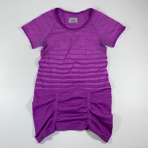 Athleta Womens XS Gradient Stripe Track Fitted Tee